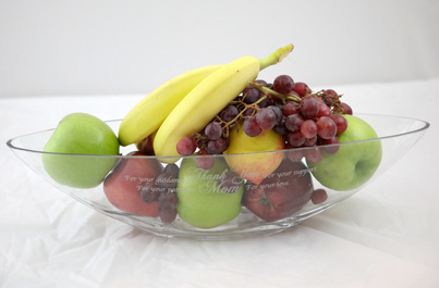 Mother's Day Custom Etched Fruit Bowl