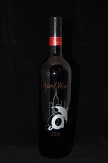 Custom Etched Wine Bottle